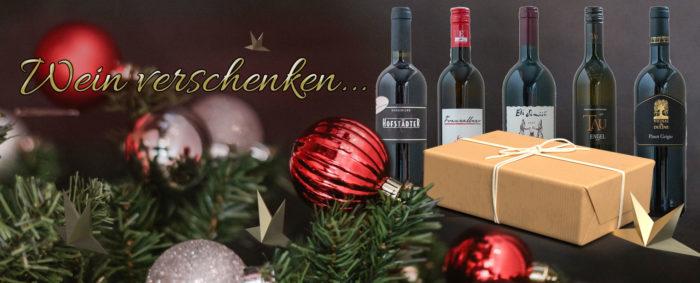 Weingeschenke zu Weihnachten